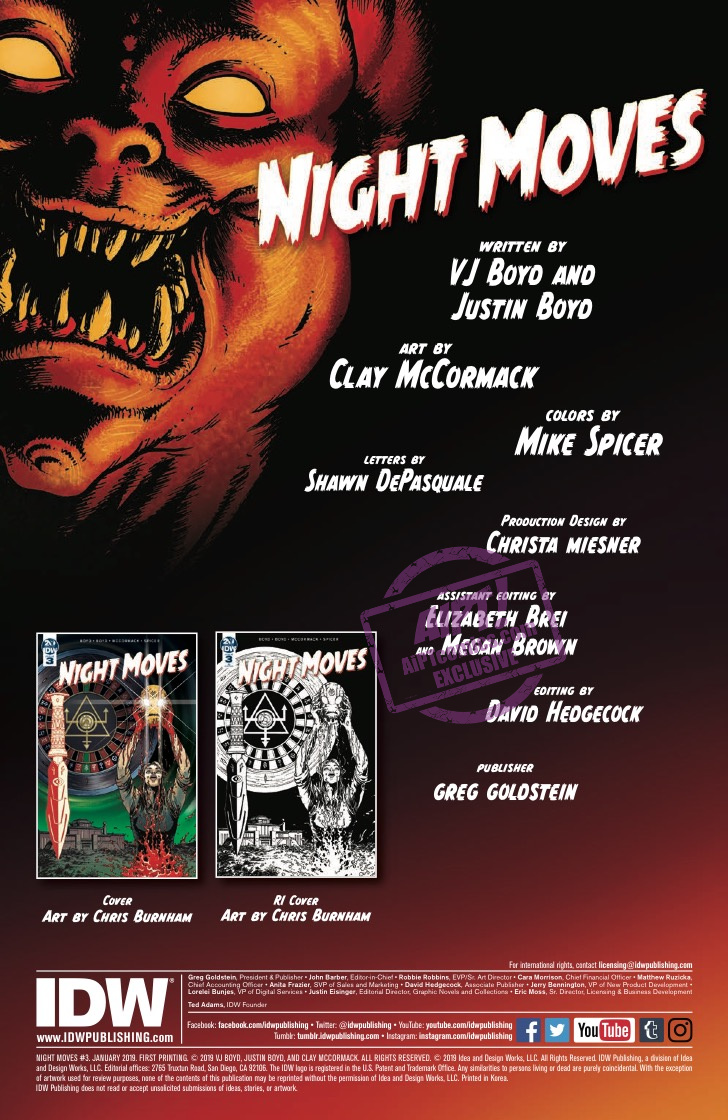 EXCLUSIVE IDW Preview: Night Moves #3