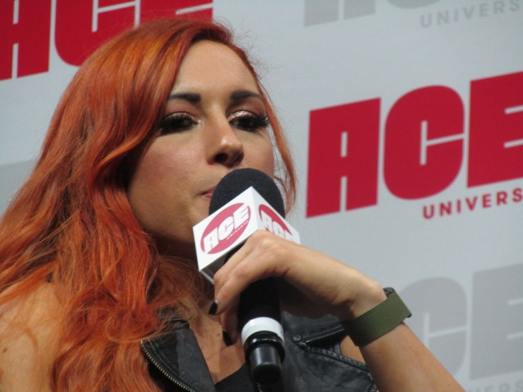 Alexa Bliss and Becky Lynch talk to fans at the Ace Comic Con in Arizona