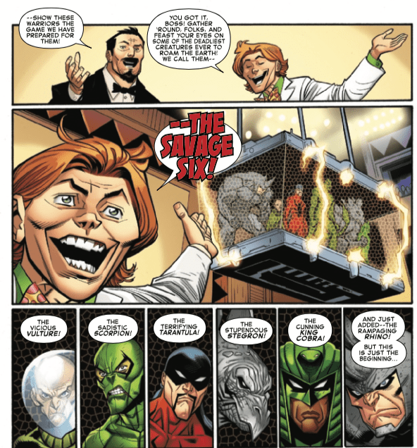 Spider-Man's rogues gallery, the Savage Six, to be tested in Amazing Spider-Man #16. To the death?