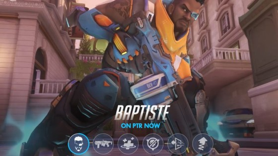 Baptiste, Overwatch's 30th hero, is now available on the Public Test Region