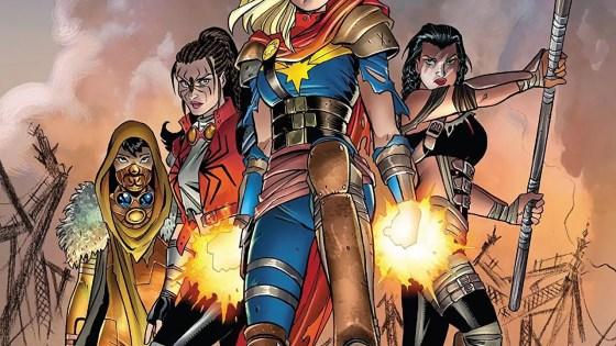 Captain Marvel goes into full leadership mode.