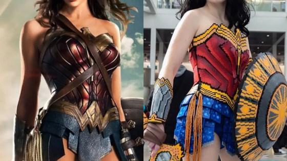 Perler beads Wonder Woman cosplay by Cosplamy