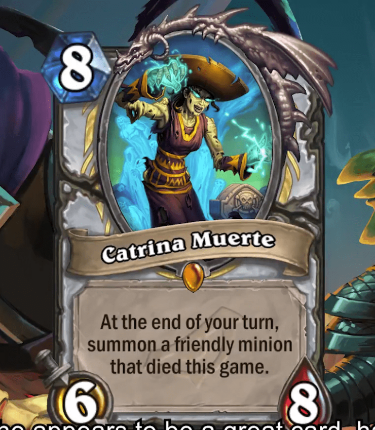 Hearthstone: Rise of Shadows: Catrina Muerte, new Priest Legendary minion revealed