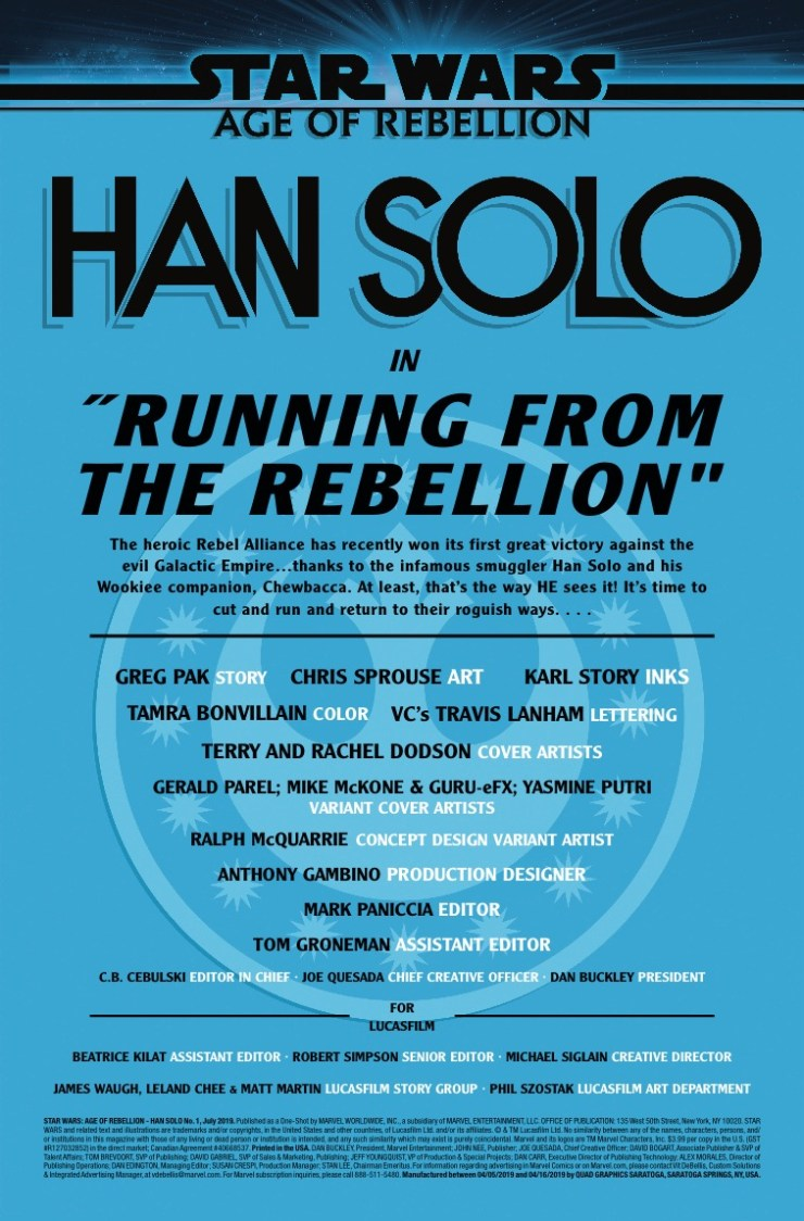 Marvel Preview: Star Wars: Age Of Rebellion - Han Solo #1