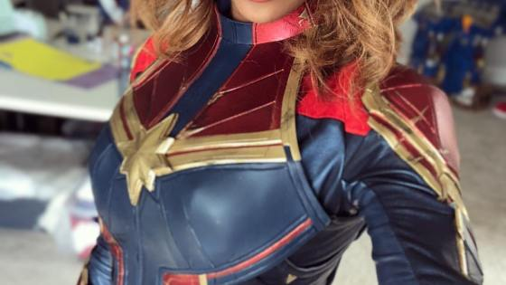 Captain Marvel cosplay by CutiePieSensei