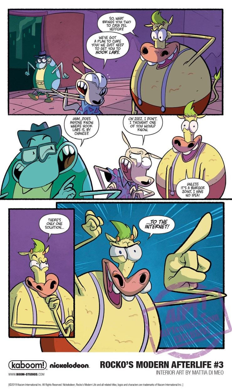 EXCLUSIVE BOOM! Preview: Rocko's Modern Afterlife #3