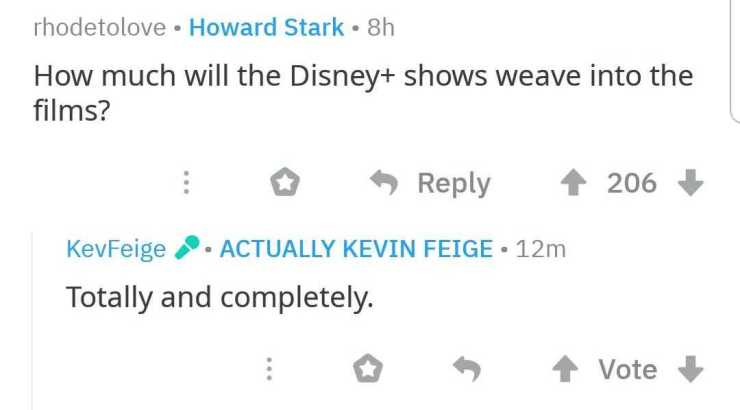 Kevin Feige spills some beans on the Marvel Cinematic Universe on today's Reddit AMA