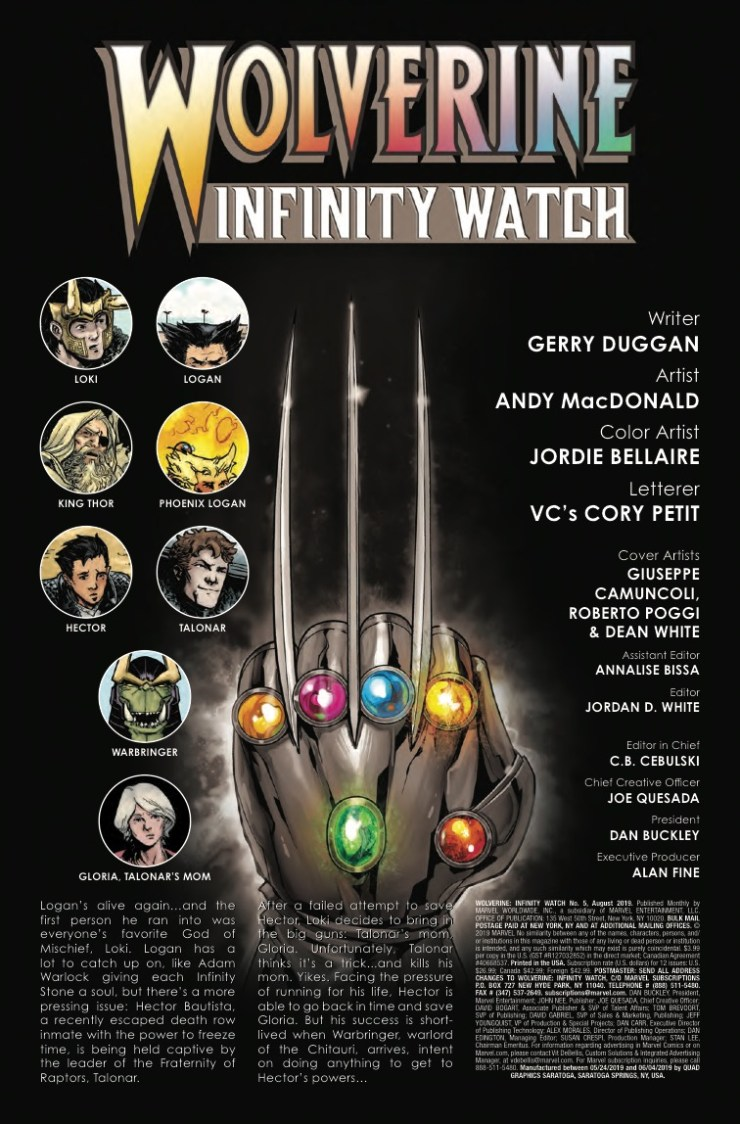 Marvel Preview: Wolverine: Infinity Watch #5
