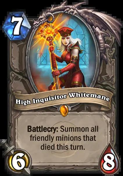Hearthstone: New Classic Legendary, High Inquisitor Whitemane revealed