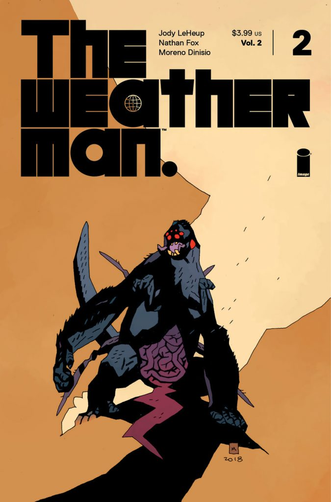 First look at Mike Mignola's variant cover for The Weatherman, Vol.2 #2