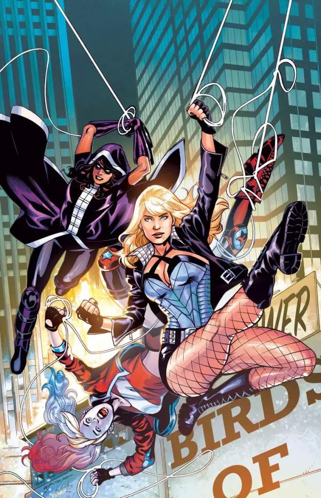 Harley Quinn, Black Canary, and Huntress take on 'Las Esposas de la Muerte.'