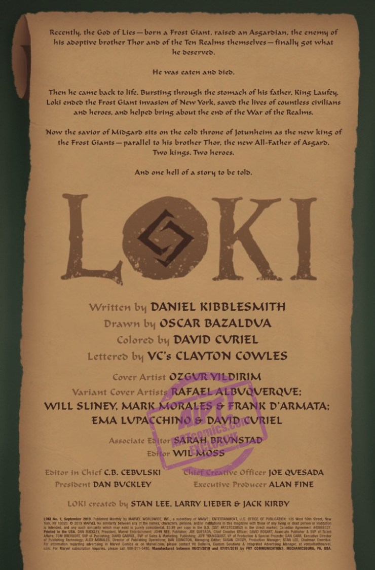 EXCLUSIVE Marvel Preview: Loki #1