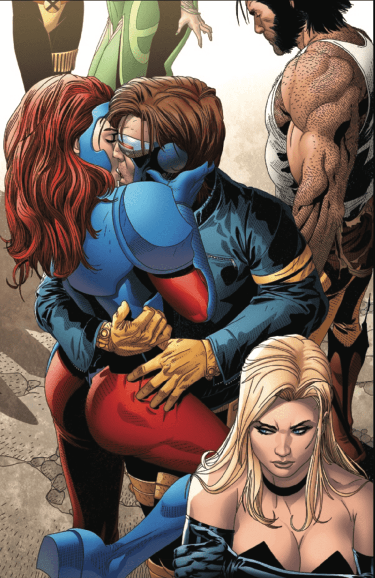 'Uncanny X-Men' #22 lays on the romance between these two X-Men