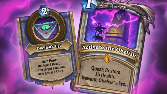 Hearthstone: Saviors of Uldum: New Legendary Priest Quest, Activate the Obelisk revealed