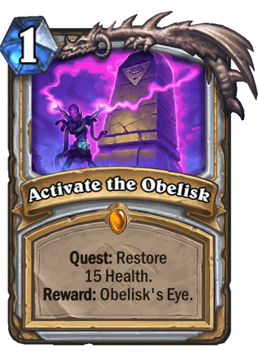 Priest gains a Quest with a very powerful reward with Activate the Obelisk.