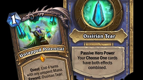 The New Druid Quest card in Hearthstone: Saviors of Uldum puts Choose One cards in the forefront.