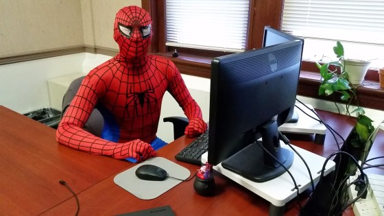 Crunching the numbers, running the reports, and figuring out the best non-slinging Spidey spot.
