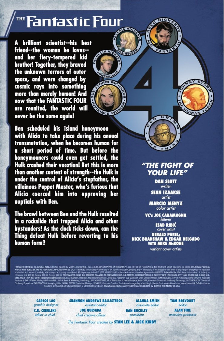 Marvel Preview: Fantastic Four #13