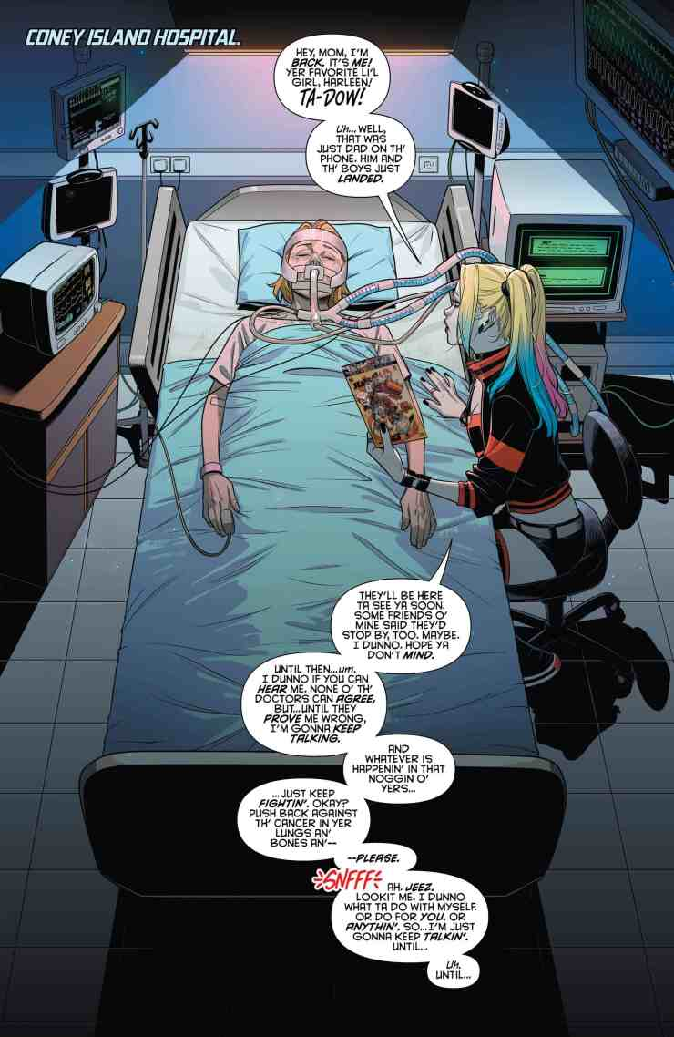 Hilarious and meaningful, Harley Quinn #64 serves as an excellent commentary on crossover events.