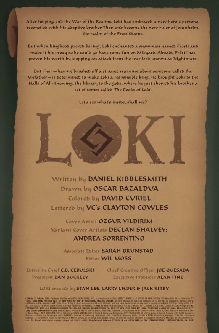 Marvel Preview: Loki #2