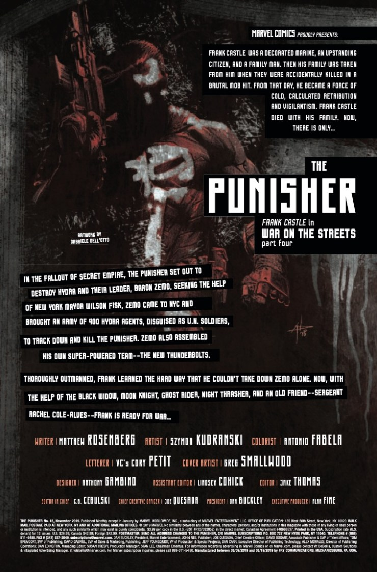 Marvel Preview: The Punisher #15