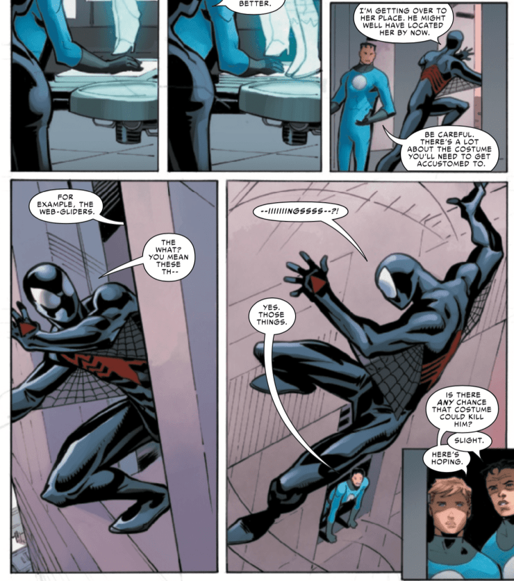 A new Spider-Man costume is revealed in 'The Sensational Spider-Man: Self Improvement' #1