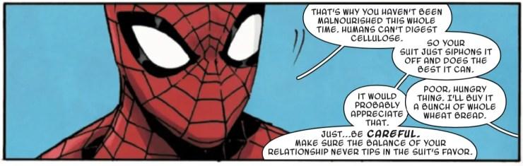 Get the scoop about Ghost-Spider's (aka Spider-Gwen) costume in 'Ghost-Spider' #1