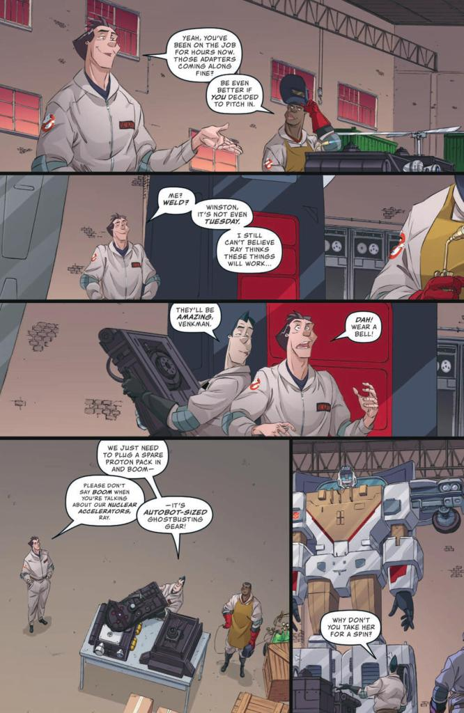 Transformers/Ghostbusters #4 review