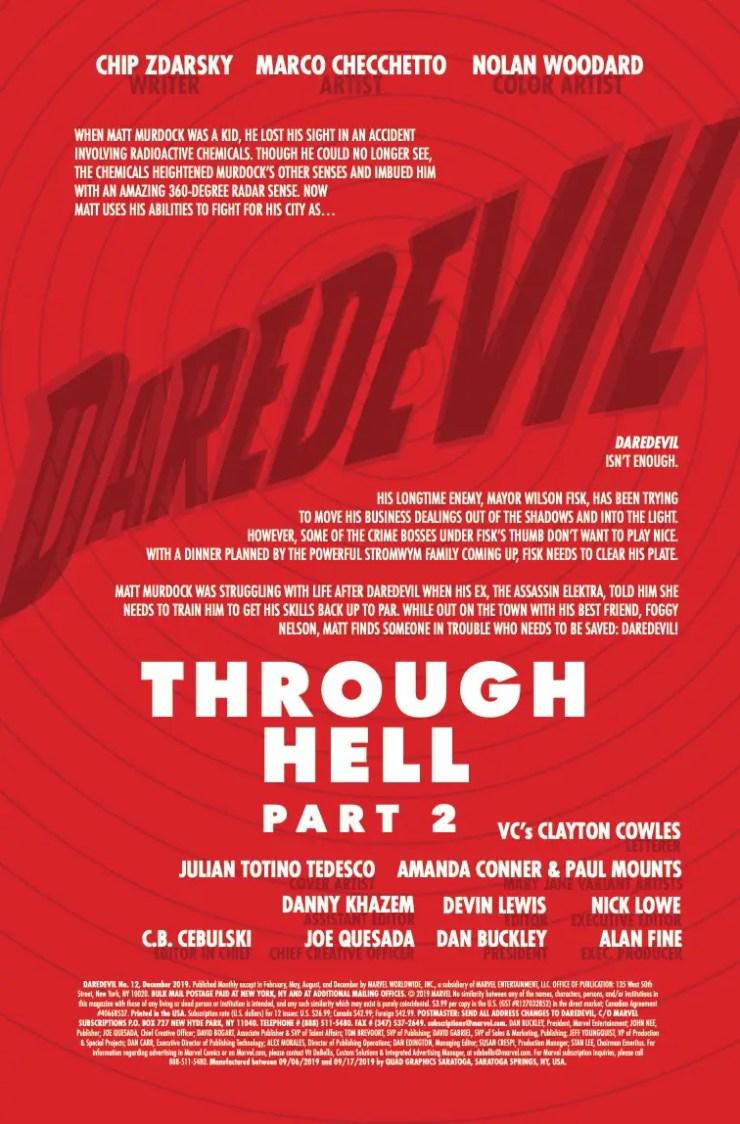 Marvel Preview: Daredevil #12
