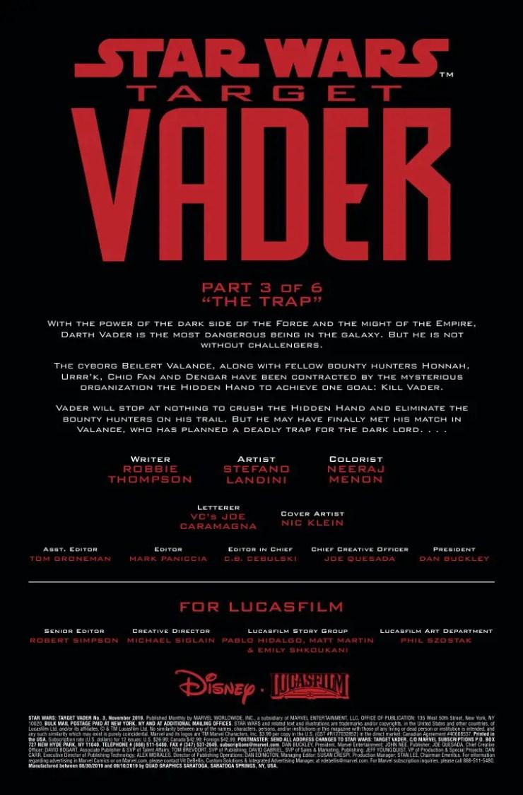 Marvel Preview: Star Wars: Target Vader #3