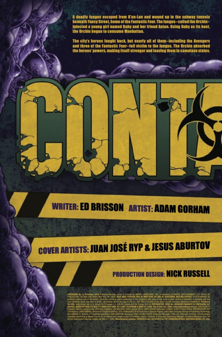 Marvel Preview: Contagion #5