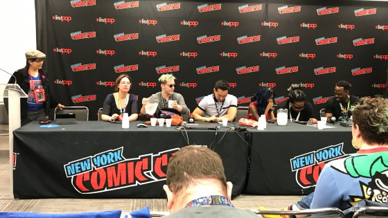 This panel was a remarkable show of just how many people can gather together to fight fascism and protect fandom.