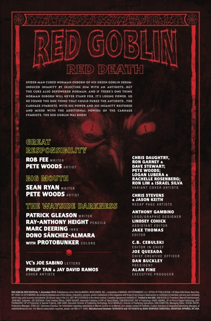 Marvel Preview: Red Goblin: Red Death #1