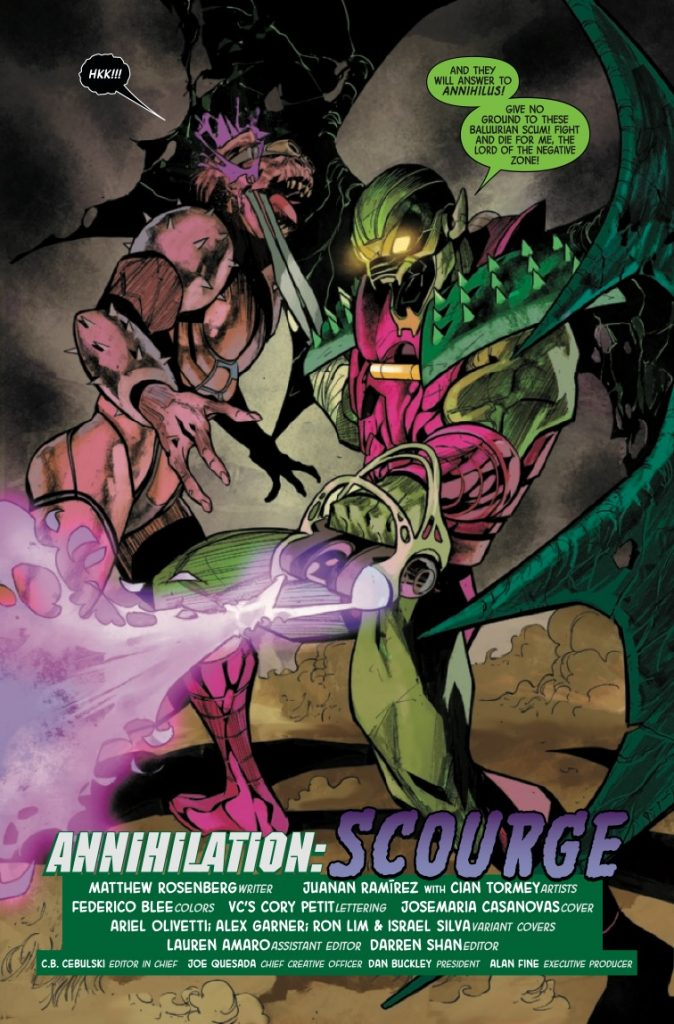 Annihilation: Scourge Alpha #1 Review