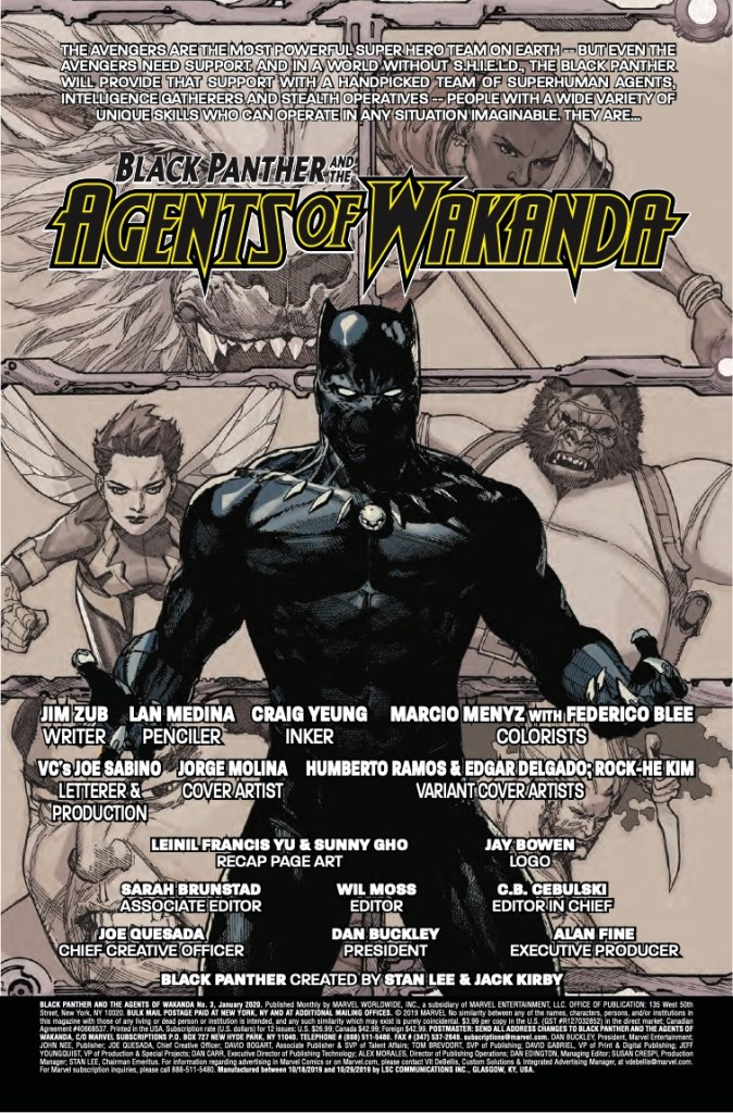 Marvel Preview: Black Panther And The Agents Of Wakanda (2019-) #3