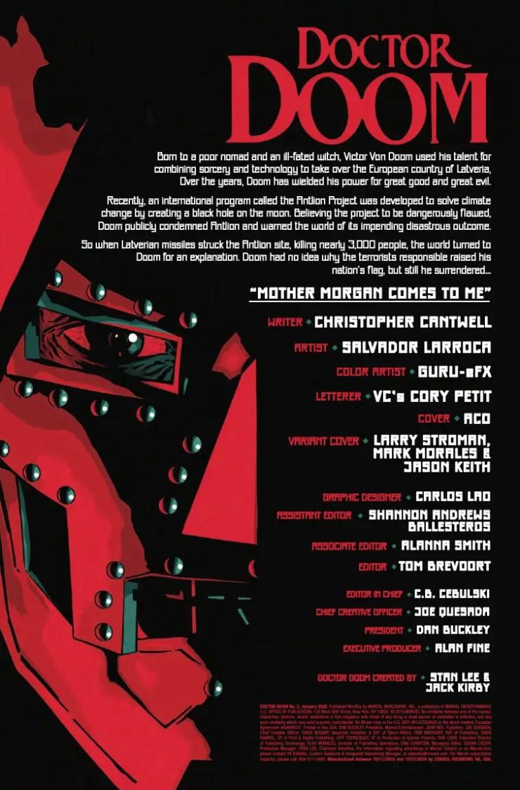 Marvel Preview: Doctor Doom #2