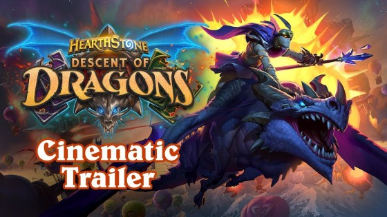 Team 5/Blizzard unveils the latest Hearthstone expansion: Descent of Dragons.