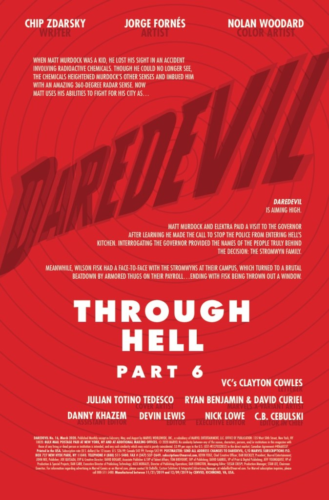 Marvel Preview: Daredevil #16