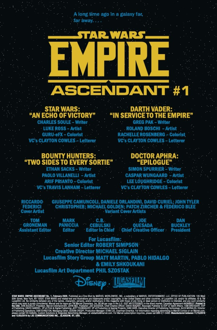Marvel Preview: Star Wars: Empire Ascendant #1