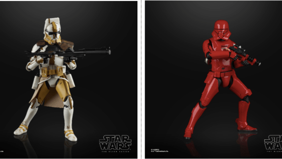 """Across the pond in Germany at Dortmund Comic Con, Hasbro officially revealed that 6"""" scale figures of Clone Commander Bly and the Jet Sith Trooper will be released for the Black Series line in Spring of 2020."""