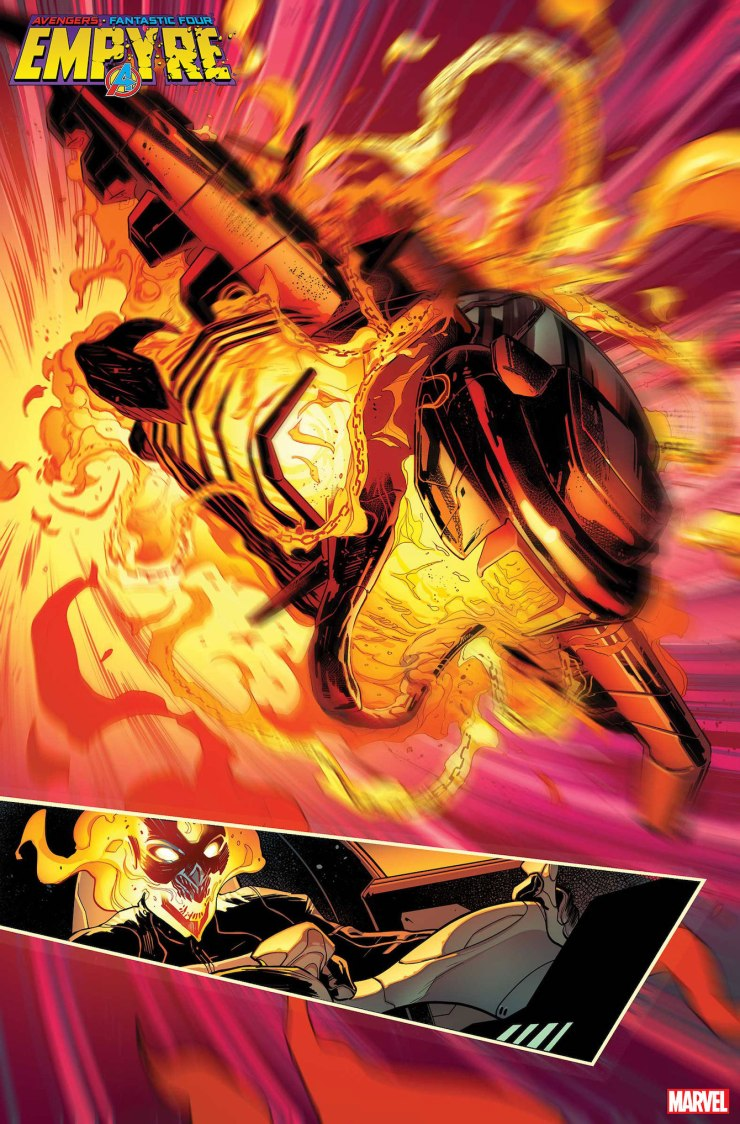 Marvel First Look: Empyre #1 - Ghost Rider heats up and Hulking readies his sword