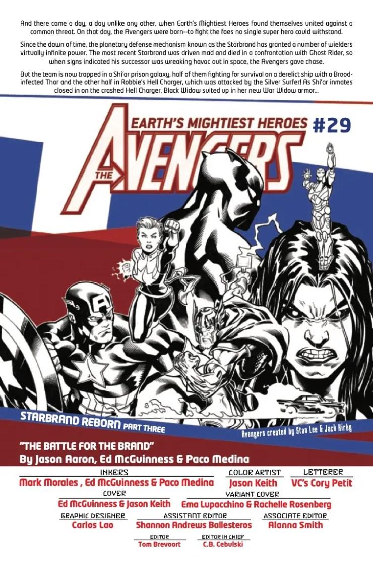 Marvel Preview: Avengers #29