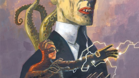 The oversized hardcover collects the Sherlock Frankenstein and Doctor Andromeda tie-in series.