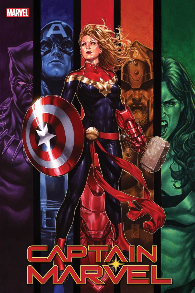 Marvel releases 'Captain Marvel' Bosslogic variant cover celebrating 150 issues in the series