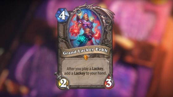 Hearthstone: Descent of Dragons: Grand Lackey Erkh, new neutral Legendary minion revealed