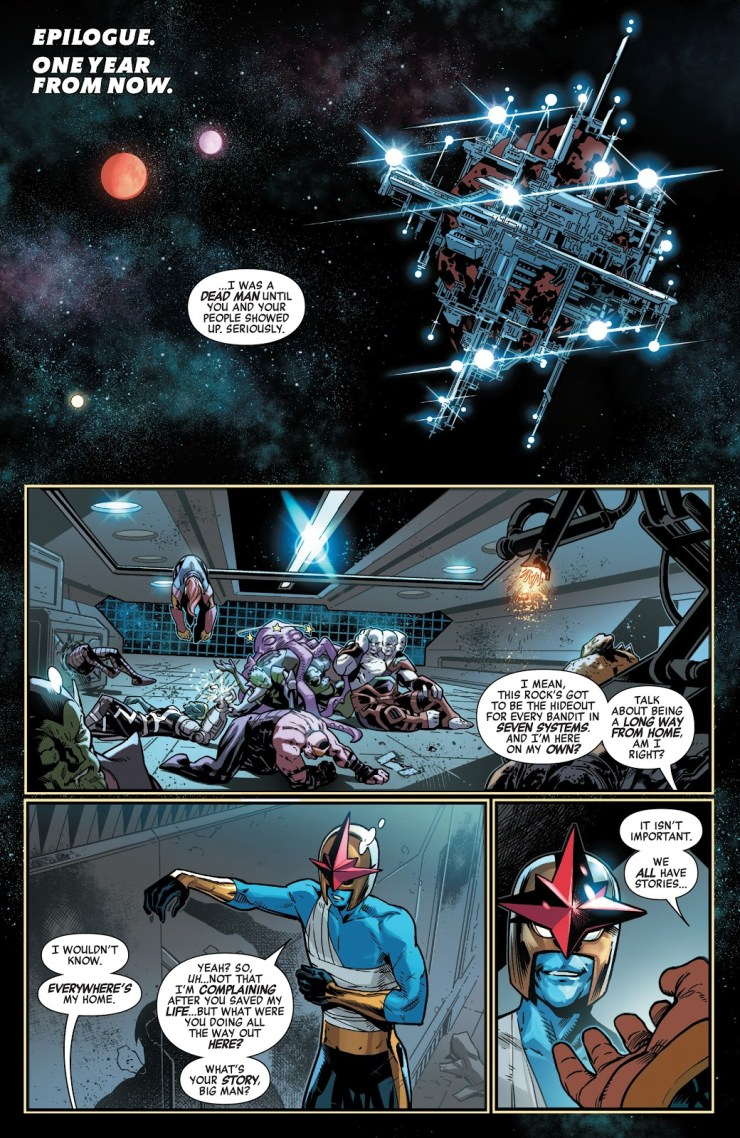 Checking in on 'Guardians of the Galaxy' #1 and when we last saw this Avenger