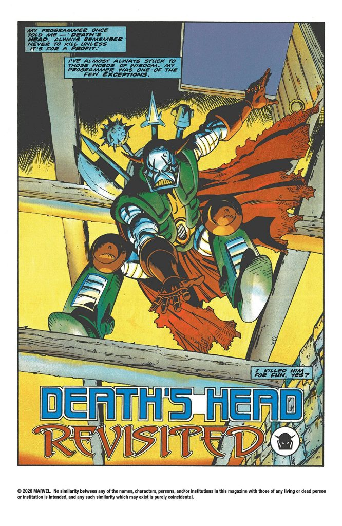Death's Head: Freelance Peacekeeping Agent TPB Review