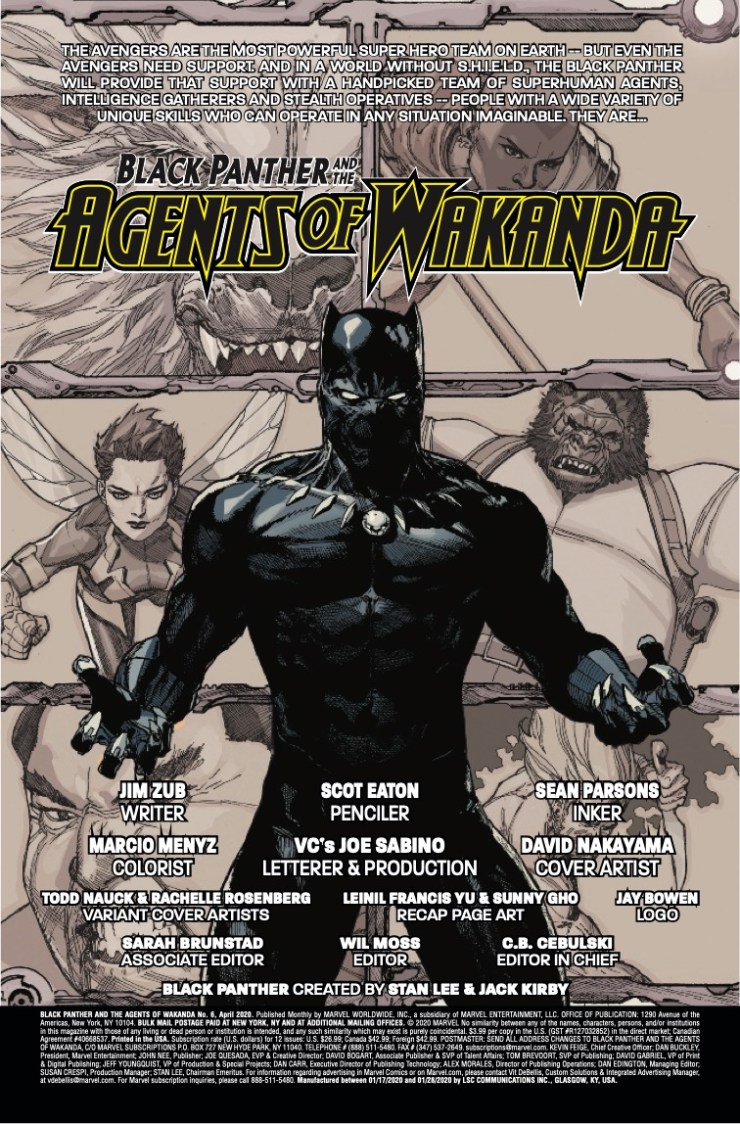 Marvel Preview: Black Panther and the Agents of Wakanda #6