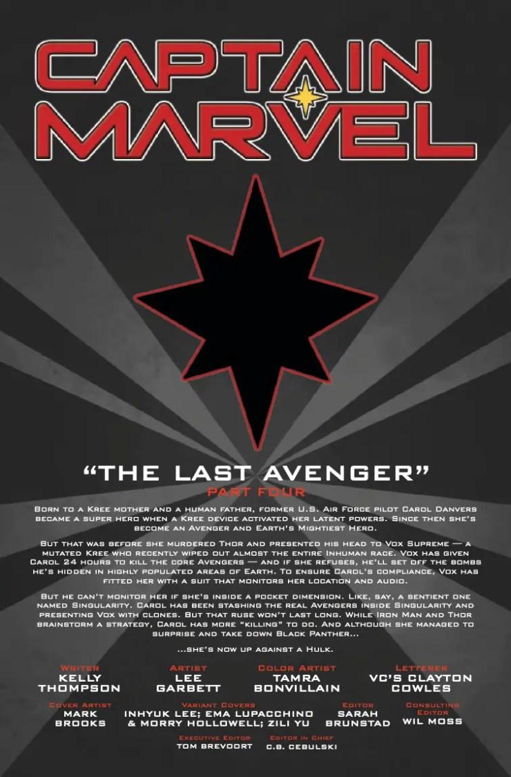 Marvel Preview: Captain Marvel #15