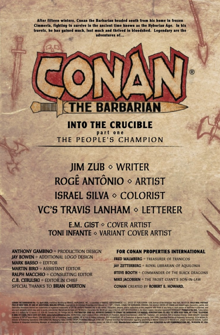 Marvel Preview: Conan the Barbarian #13
